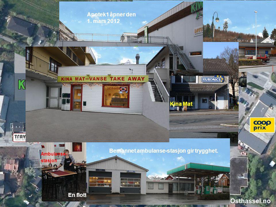 i å å å Leilighet Apotek1 åpner den 1. mars 2012 Kina Mat