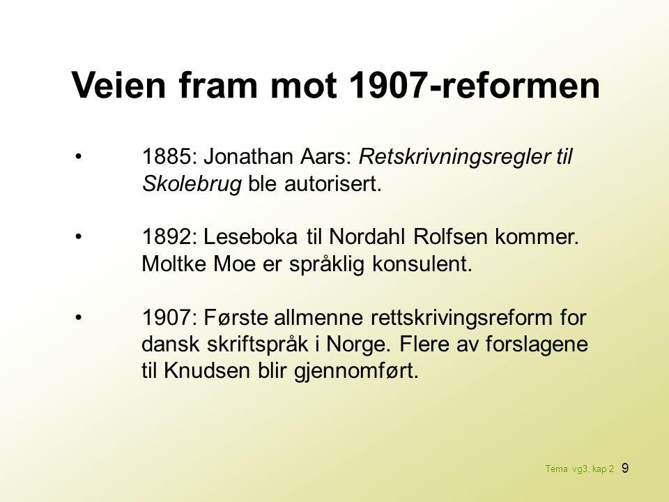 Veien fram mot 1907-reformen