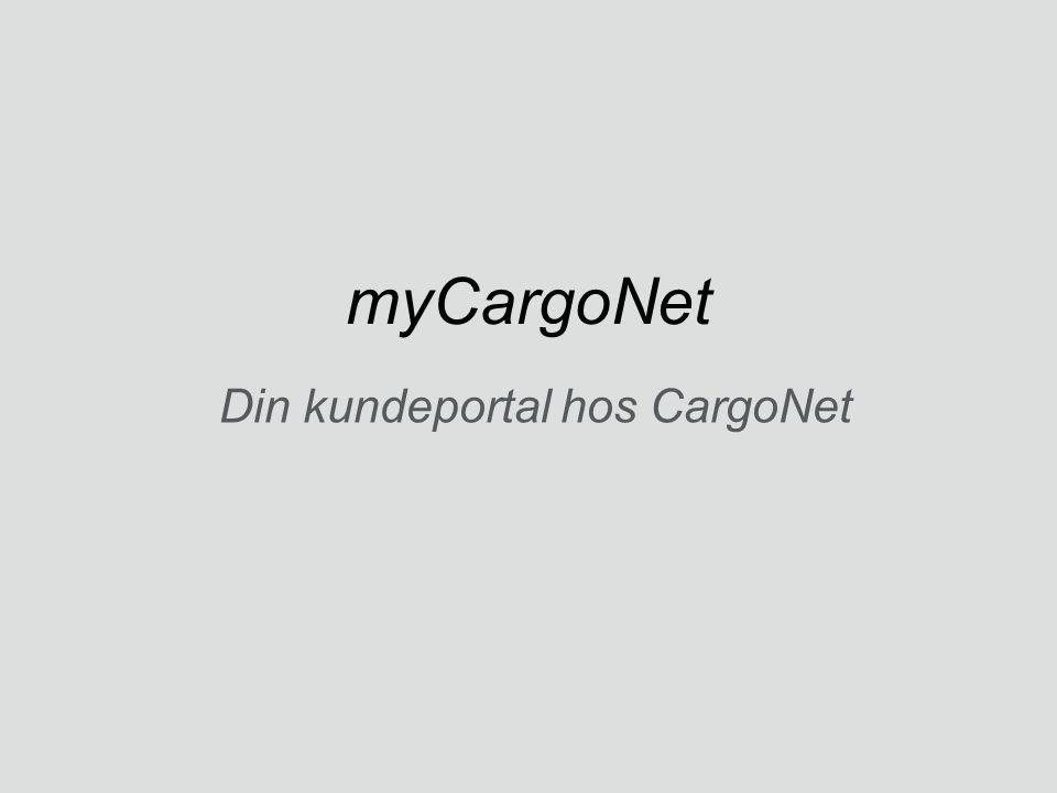 Din kundeportal hos CargoNet