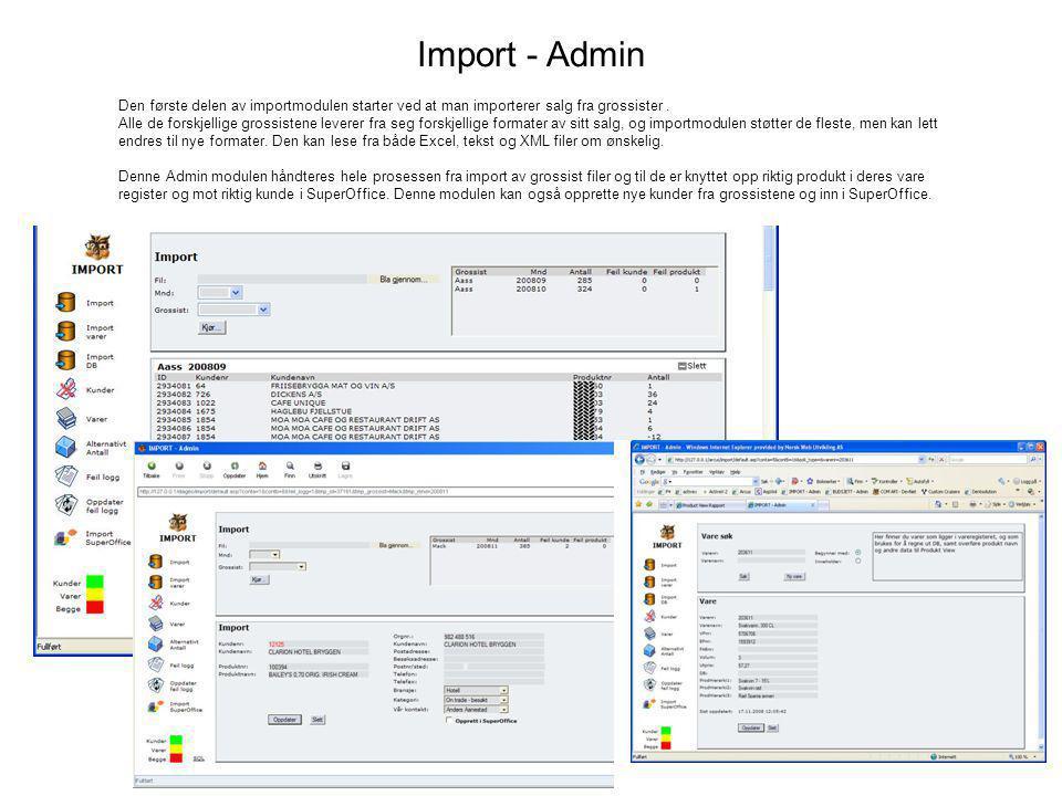 Import - Admin