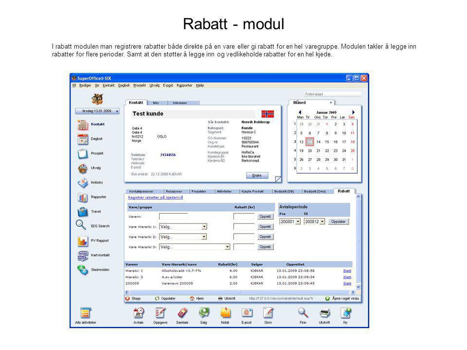 Rabatt - modul