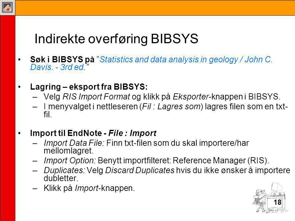 Indirekte overføring BIBSYS