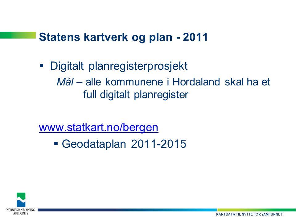 Statens kartverk og plan - 2011