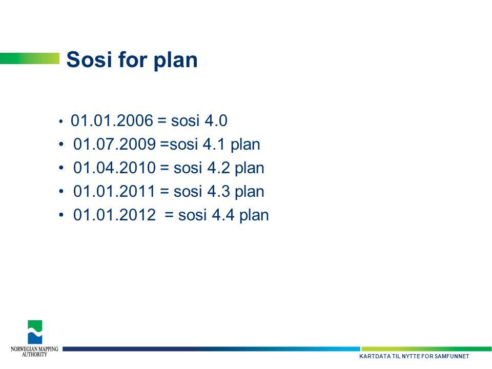Sosi for plan 01.07.2009 =sosi 4.1 plan 01.04.2010 = sosi 4.2 plan
