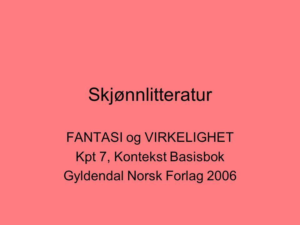 Skjønnlitteratur FANTASI og VIRKELIGHET Kpt 7, Kontekst Basisbok