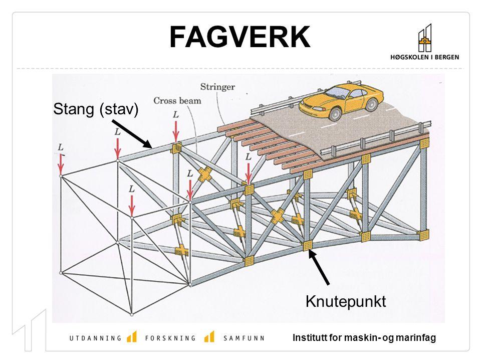 FAGVERK Stang (stav) Knutepunkt Institutt for maskin- og marinfag