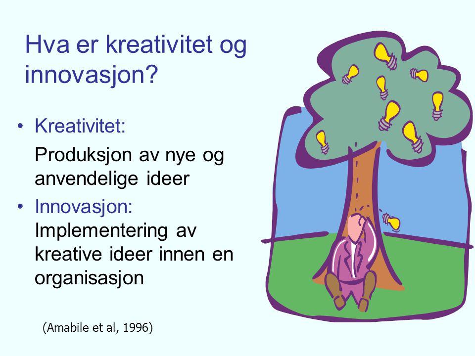 Hva er kreativitet og innovasjon