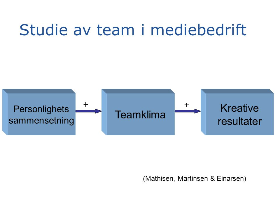 Studie av team i mediebedrift