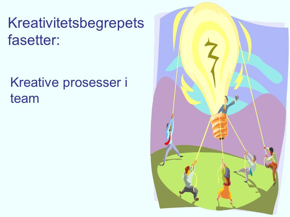 Kreativitetsbegrepets fasetter: