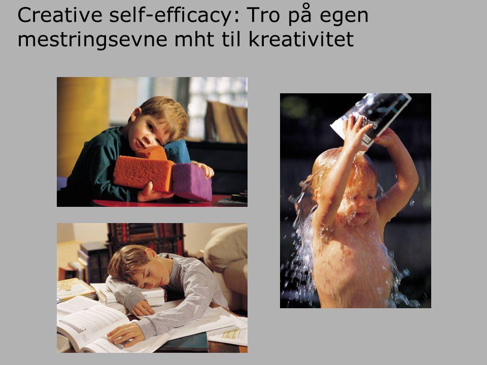 Creative self-efficacy: Tro på egen mestringsevne mht til kreativitet