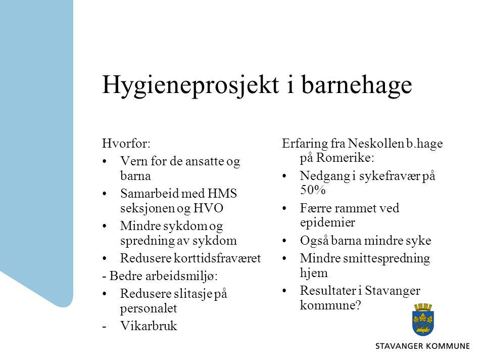 Hygieneprosjekt i barnehage