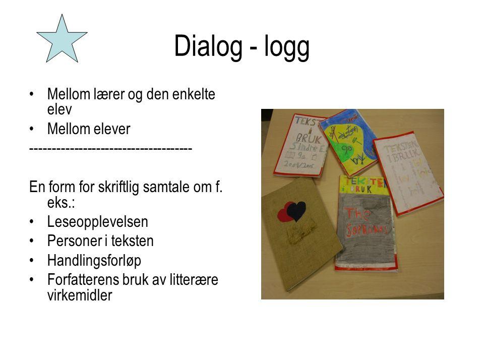 Dialog - logg Mellom lærer og den enkelte elev Mellom elever