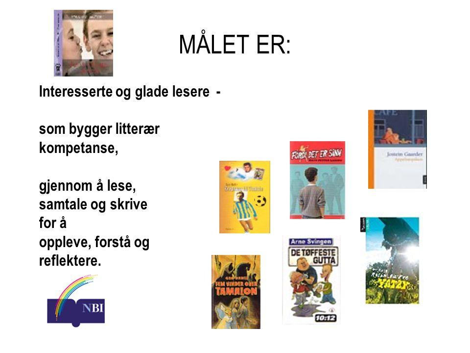 MÅLET ER: Interesserte og glade lesere - som bygger litterær