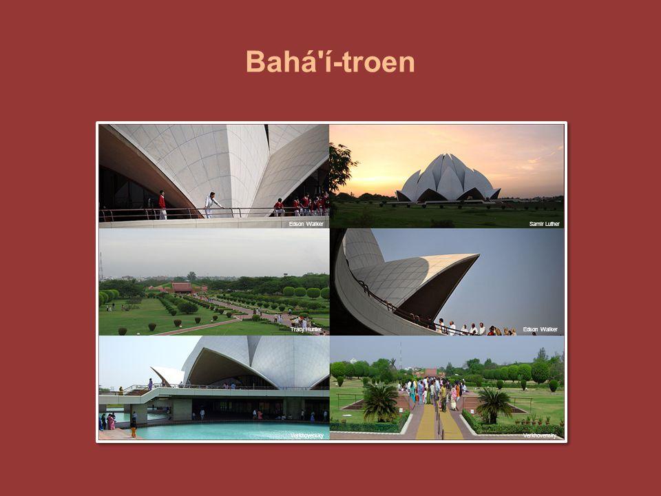 Bahá í-troen Bilder fra Lotustempelet i India. Edson Walker