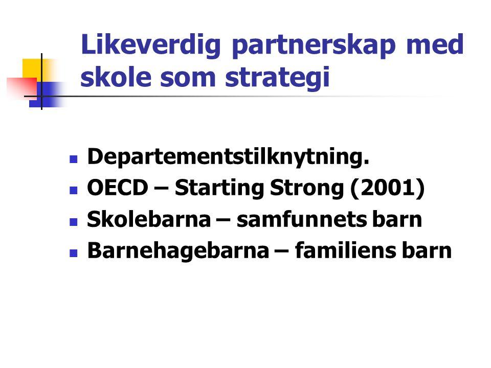 Likeverdig partnerskap med skole som strategi