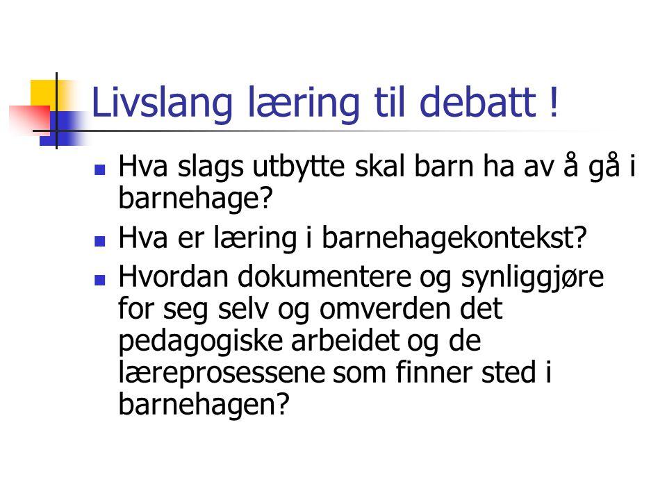 Livslang læring til debatt !