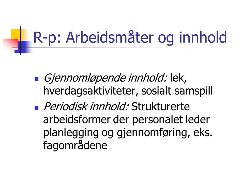 R-p: Arbeidsmåter og innhold