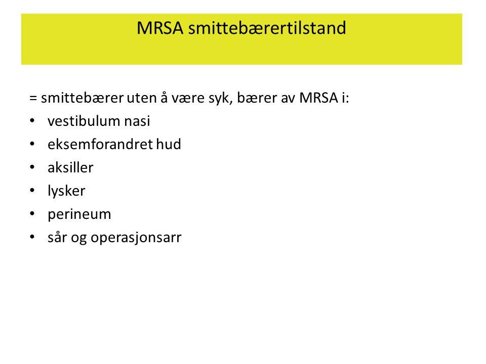 MRSA smittebærertilstand