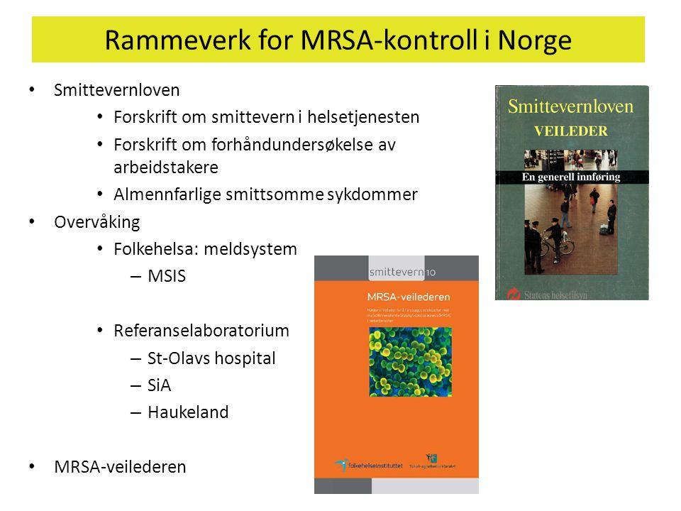 Rammeverk for MRSA-kontroll i Norge