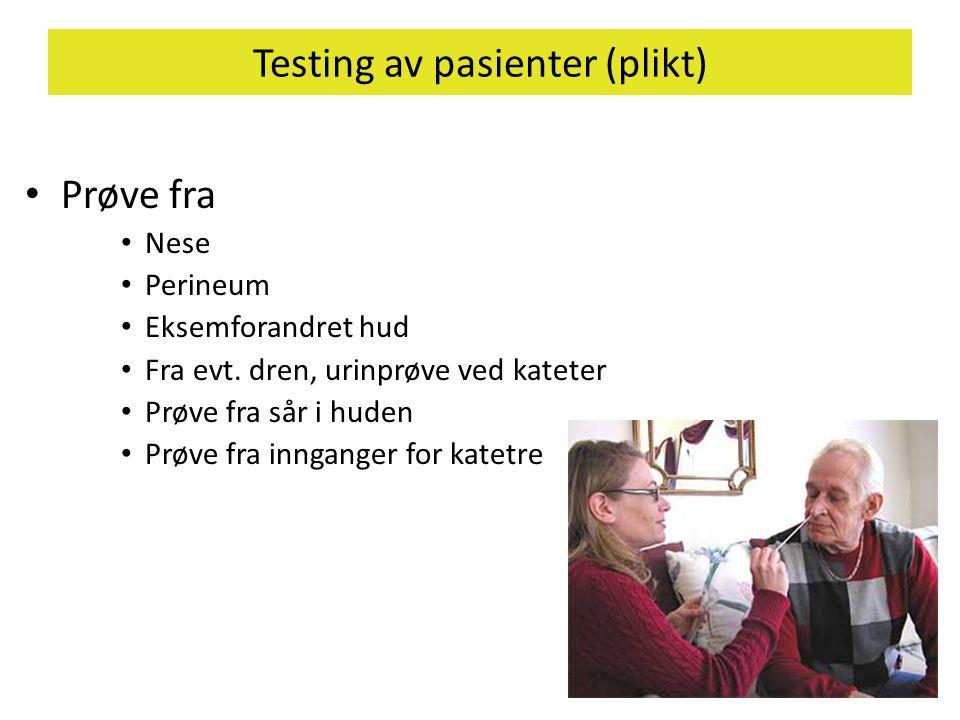 Testing av pasienter (plikt)
