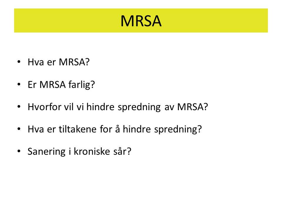 MRSA Hva er MRSA Er MRSA farlig