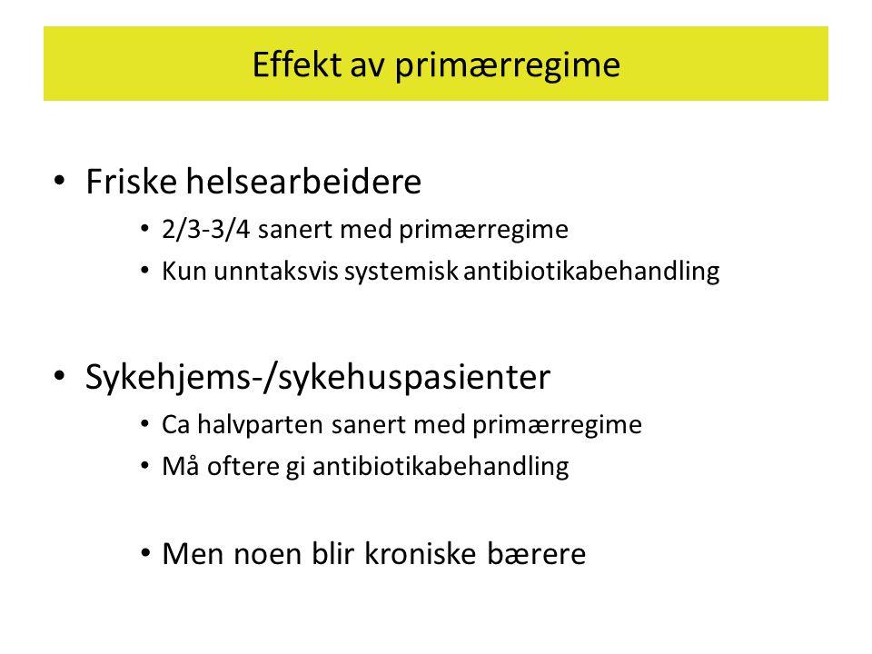 Effekt av primærregime