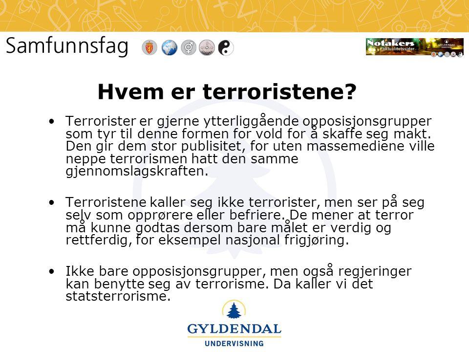 Hvem er terroristene