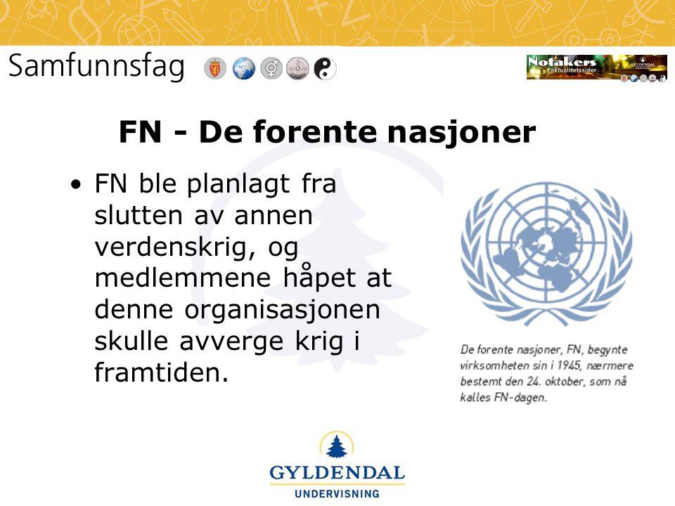 FN - De forente nasjoner