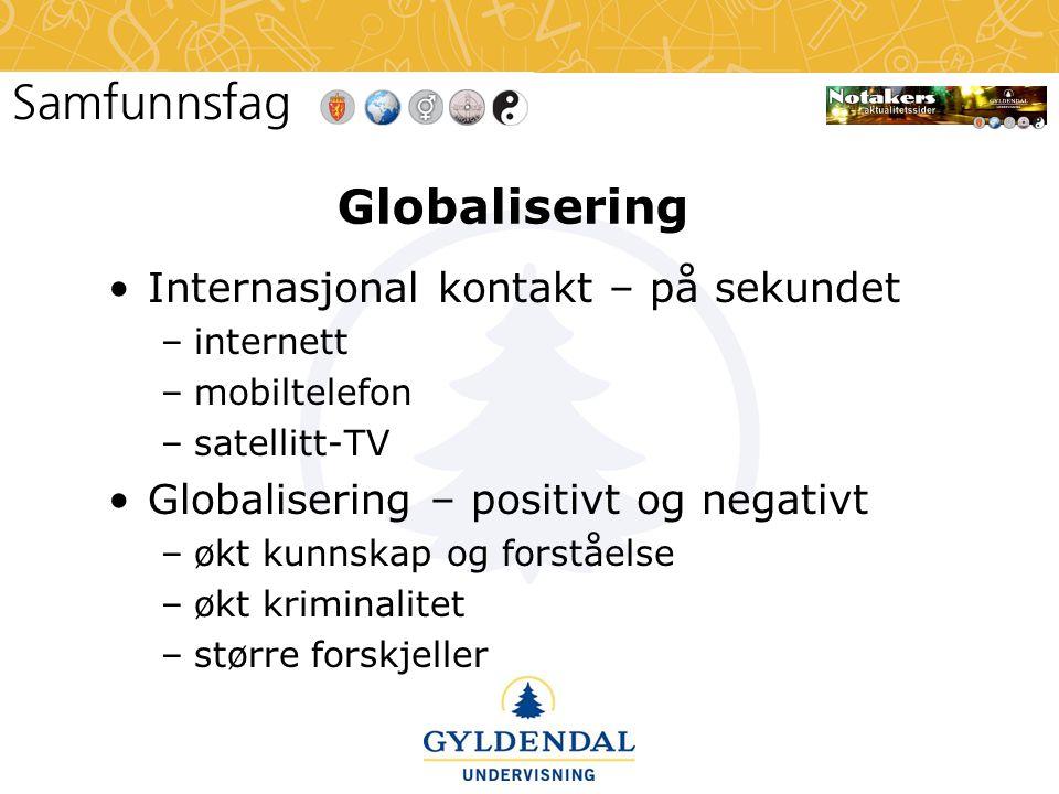 Globalisering Internasjonal kontakt – på sekundet