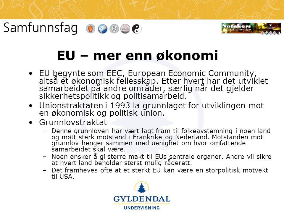 EU – mer enn økonomi