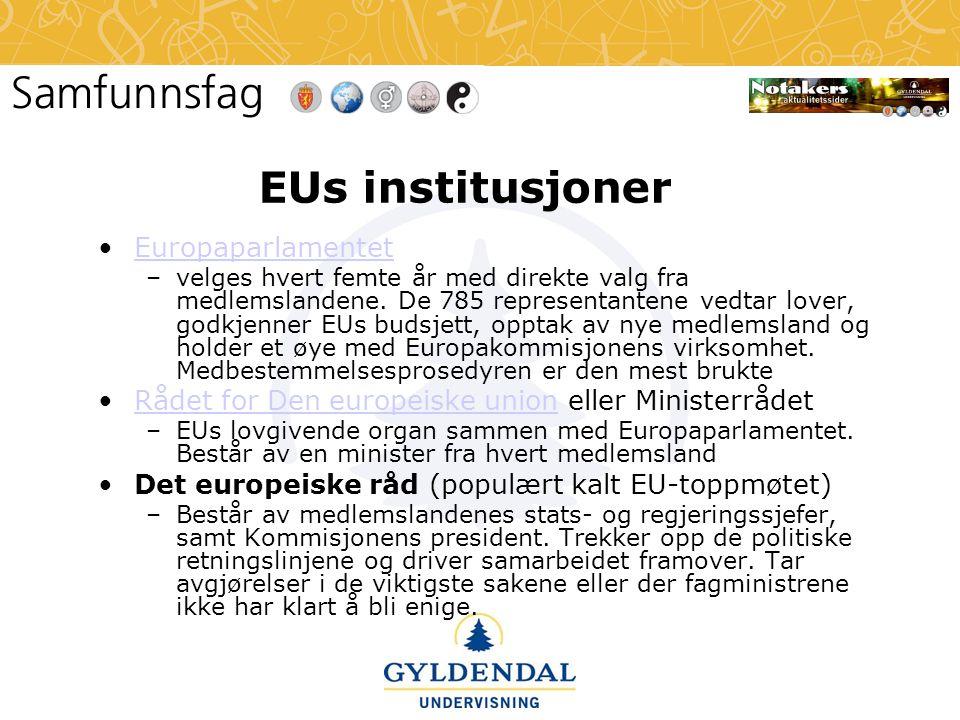 EUs institusjoner Europaparlamentet