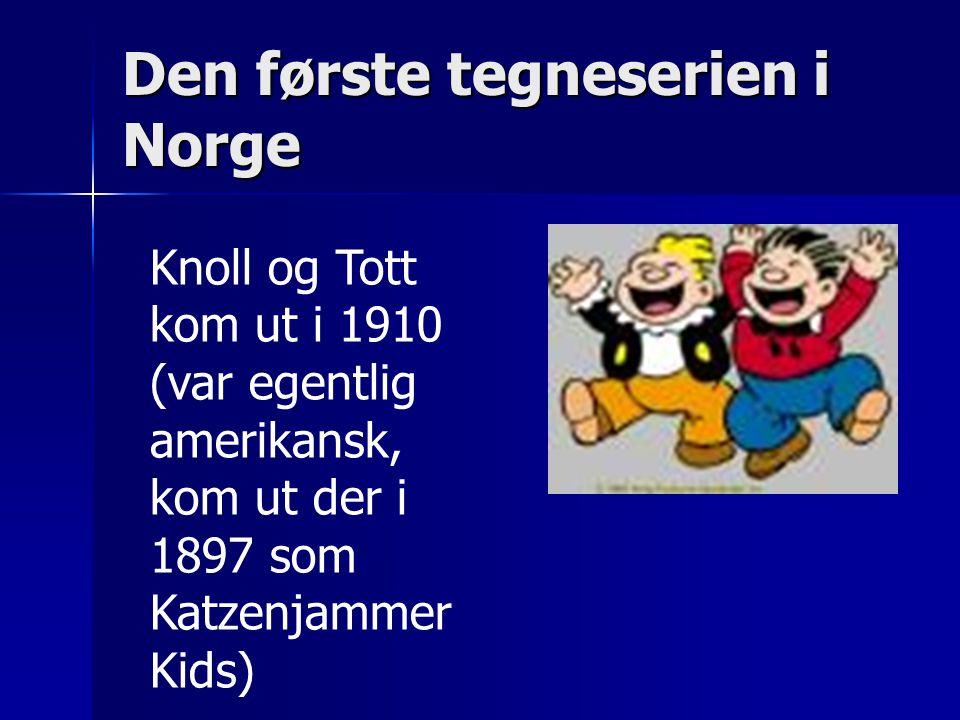 Den første tegneserien i Norge