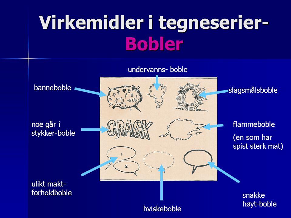 Virkemidler i tegneserier- Bobler