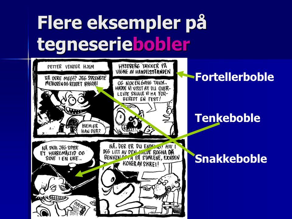 Flere eksempler på tegneseriebobler