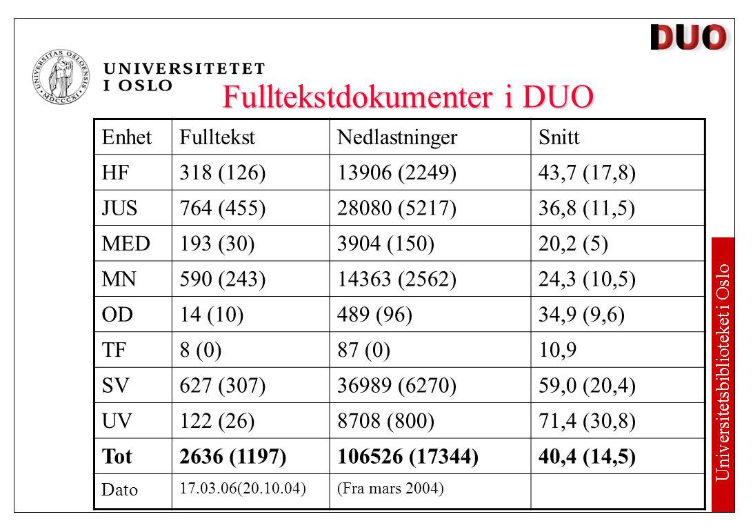 DUO Digitale Utgivelser ved Universitet i Oslo Studentoppgaver