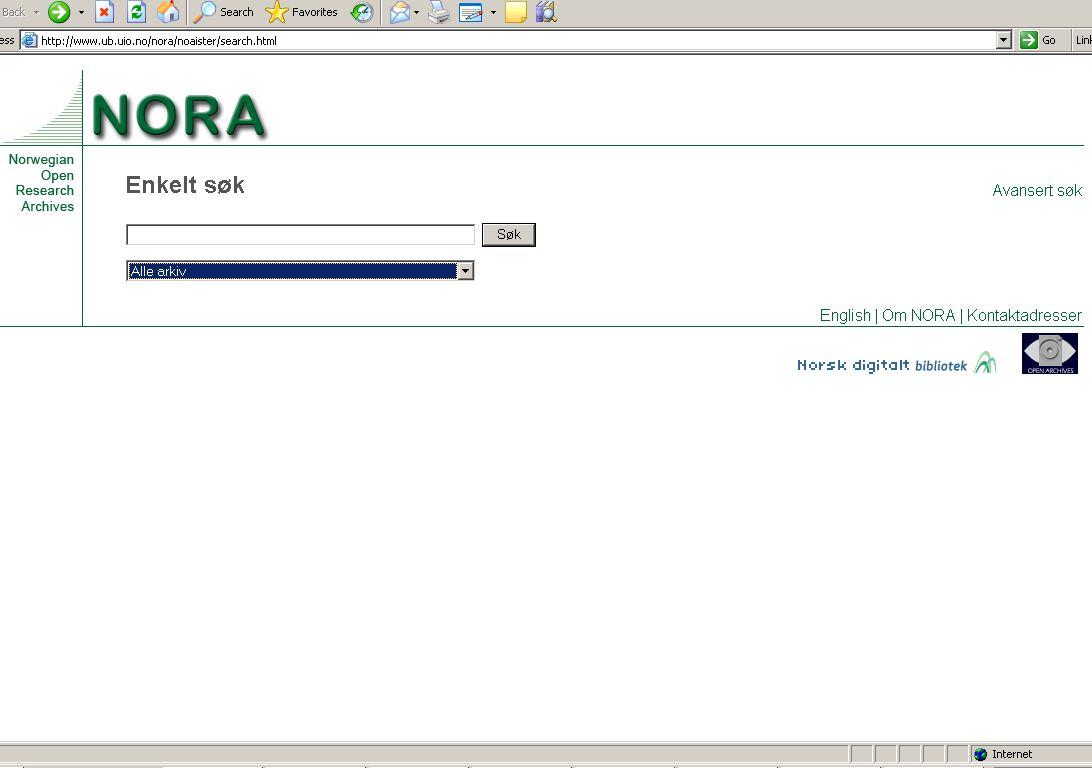 Information om NORA finns på vår start sida.