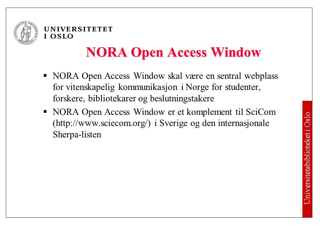 Alle må etablere åpne institusjonelle arkiv!