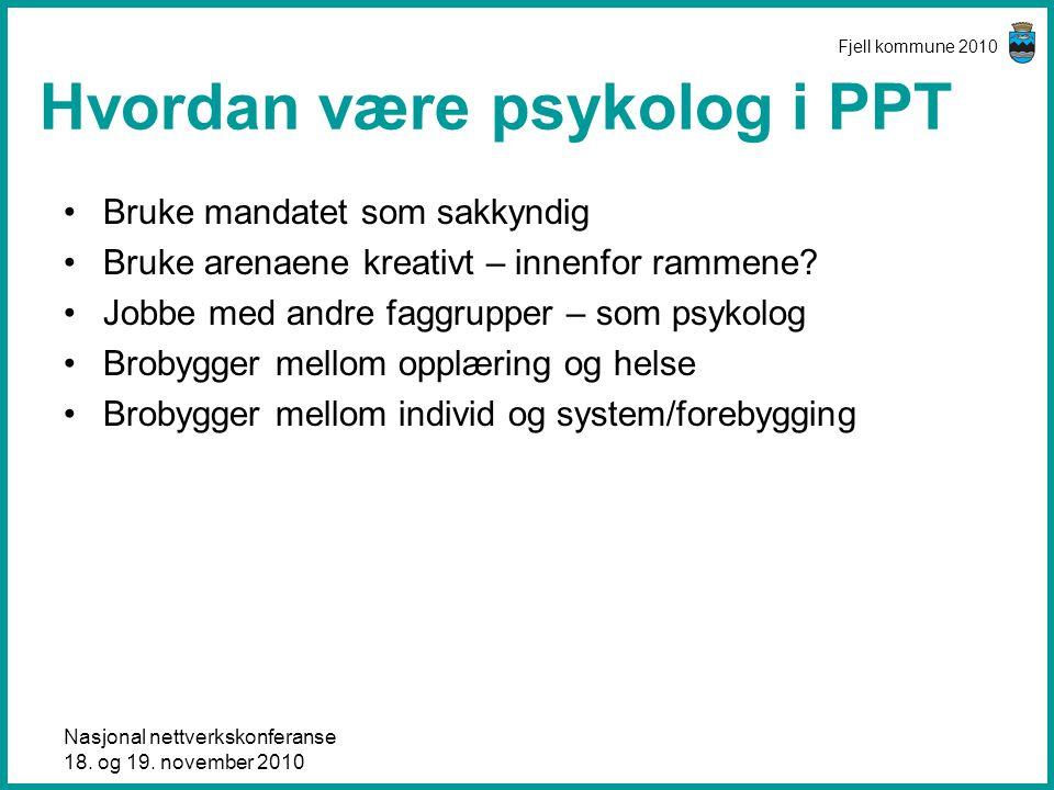 Hvordan være psykolog i PPT