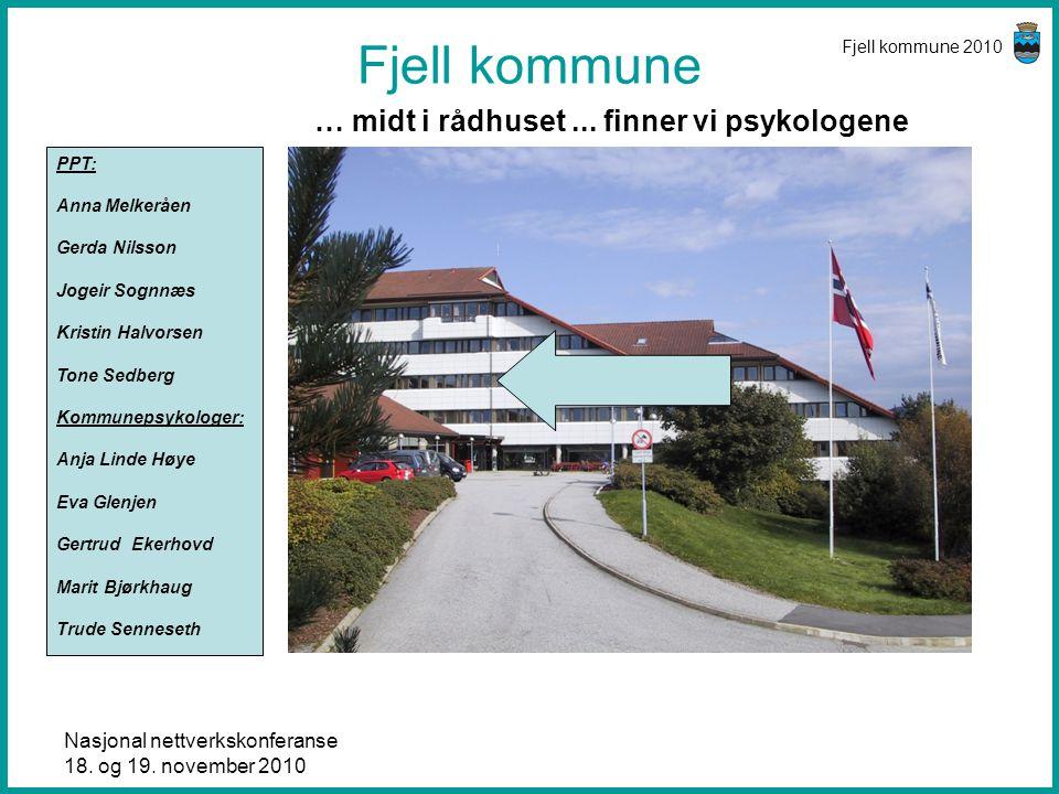 Fjell kommune … midt i rådhuset ... finner vi psykologene