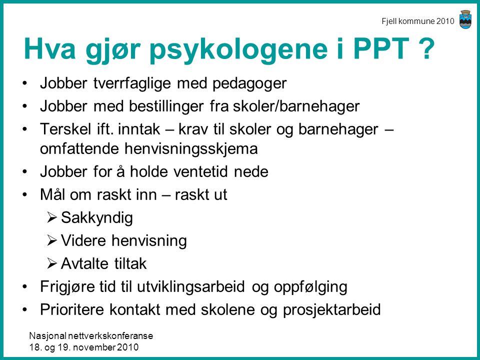 Hva gjør psykologene i PPT