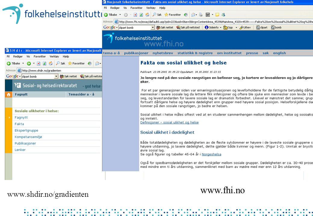 www.fhi.no www.shdir.no/gradienten
