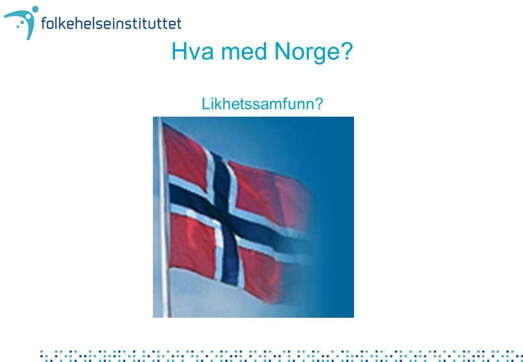 Hva med Norge Likhetssamfunn