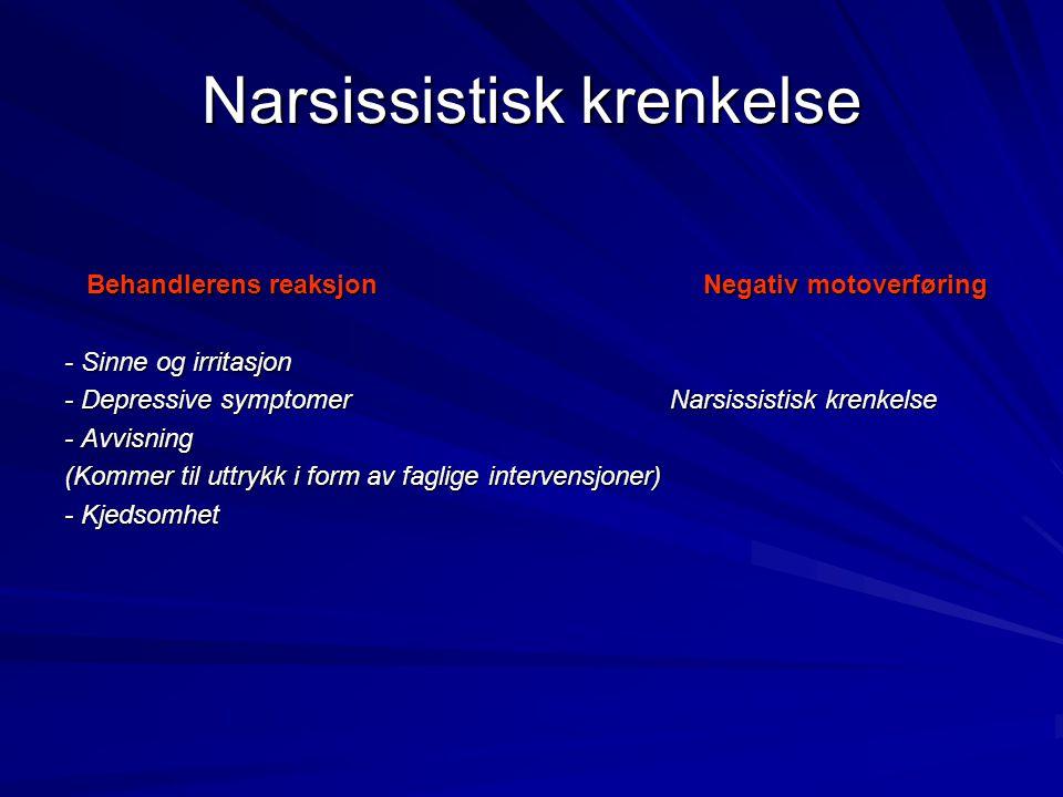 Narsissistisk krenkelse