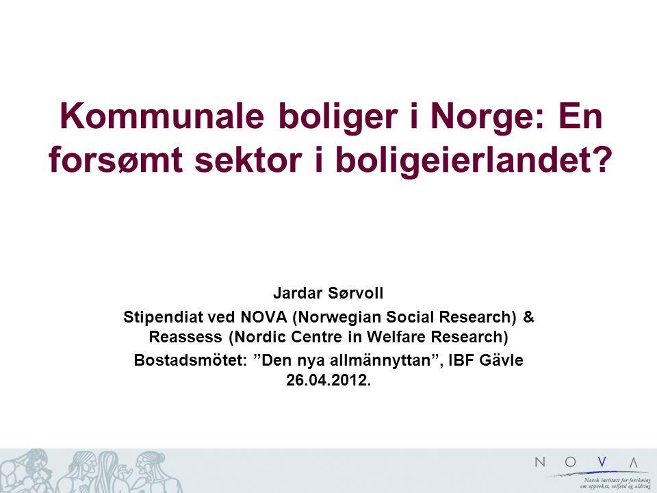 Kommunale boliger i Norge: En forsømt sektor i boligeierlandet