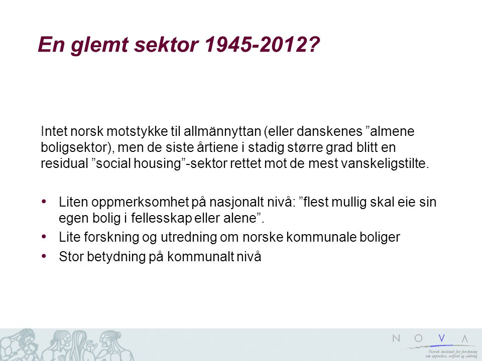 En glemt sektor 1945-2012