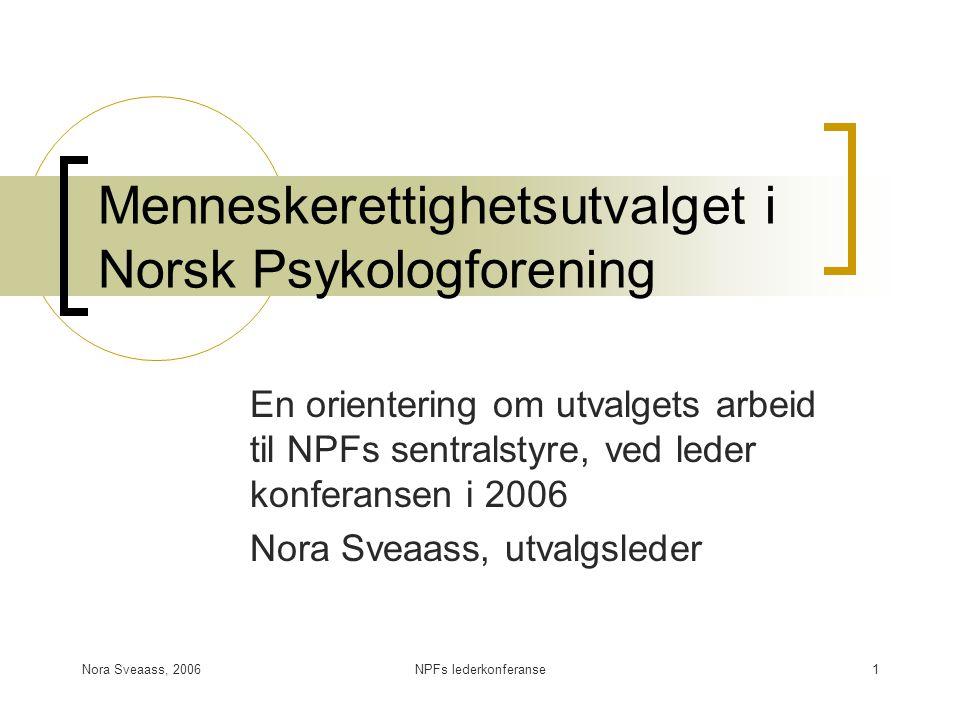 Menneskerettighetsutvalget i Norsk Psykologforening