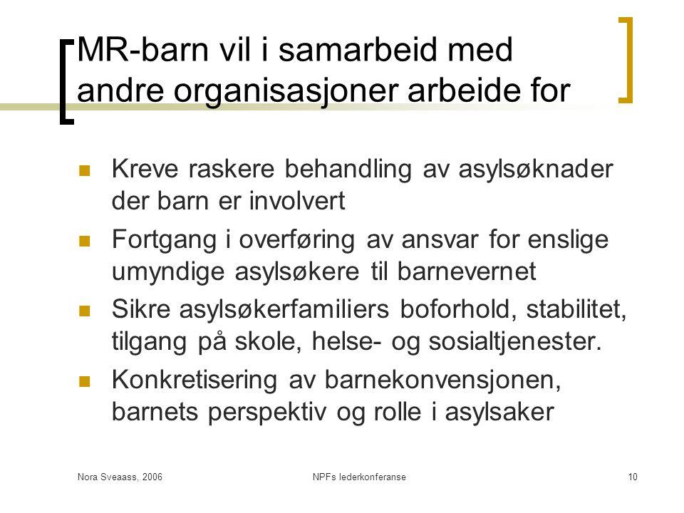 MR-barn vil i samarbeid med andre organisasjoner arbeide for