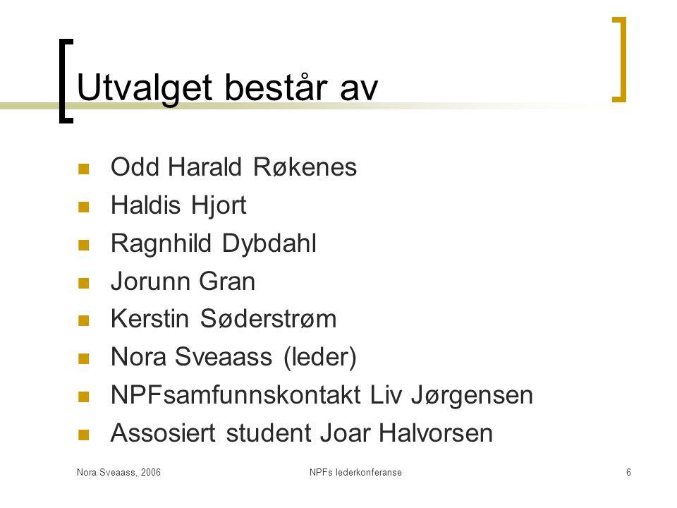 Utvalget består av Odd Harald Røkenes Haldis Hjort Ragnhild Dybdahl