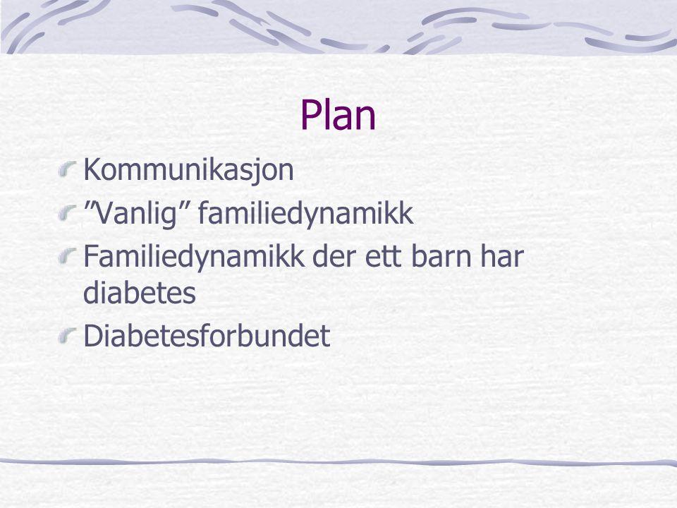 Plan Kommunikasjon Vanlig familiedynamikk
