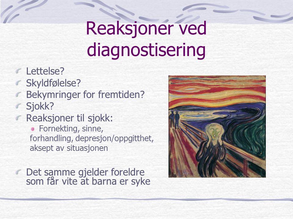 Reaksjoner ved diagnostisering